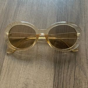 Oval Gold/Champagne Sunglasses